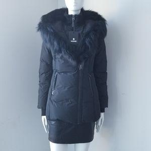 NWT Mackage Adali Down Coat With Fox Fur Collar